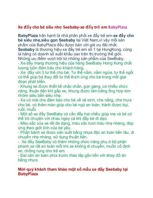 Xe đẩ y cho bé siêu nhẹ Seebaby-xe đẩ y trẻ em BabyPlaza BabyPlaza hân hạnh là nhà phân phối xe đẩy trẻ em-xe đẩy cho bé s...