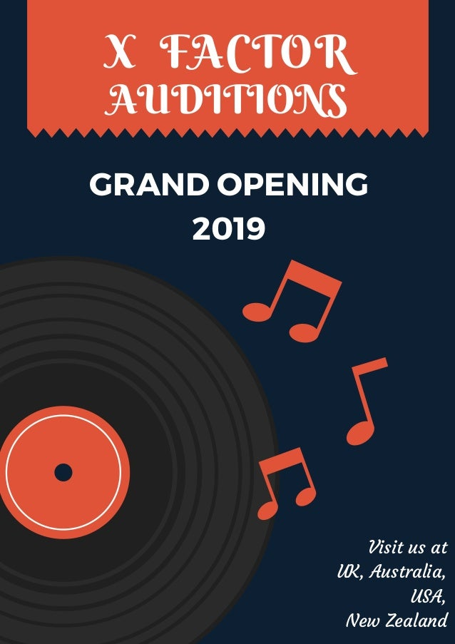 X factor auditions 2019 pdf