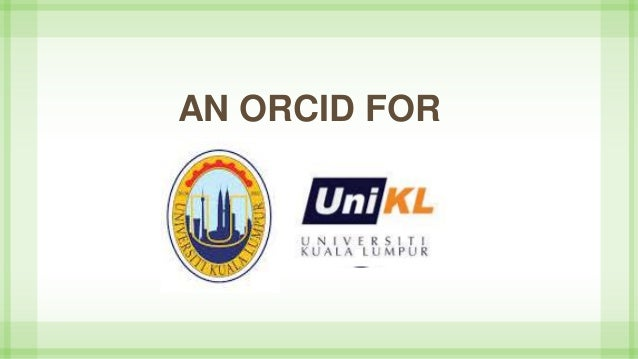 AN ORCID FOR