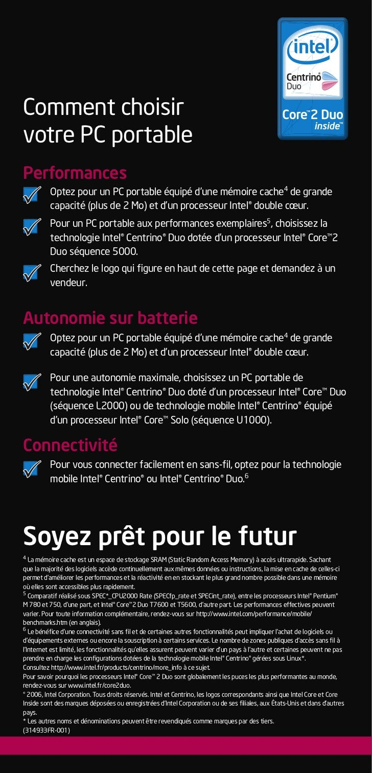 Comment choisir           votre PC portable           Performances                     Optez pour un PC portable équipé d'...