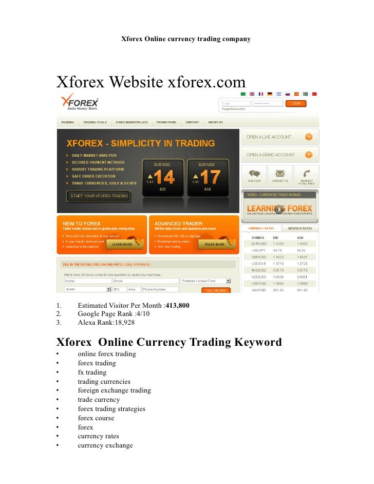 Forex brokerage business