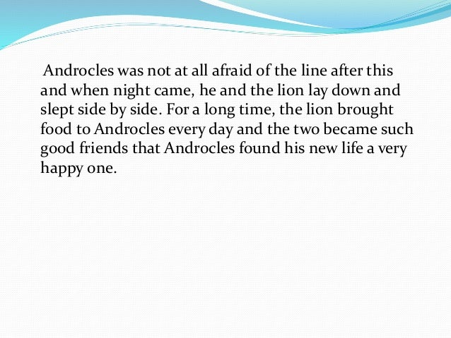 androcles and the lion moral