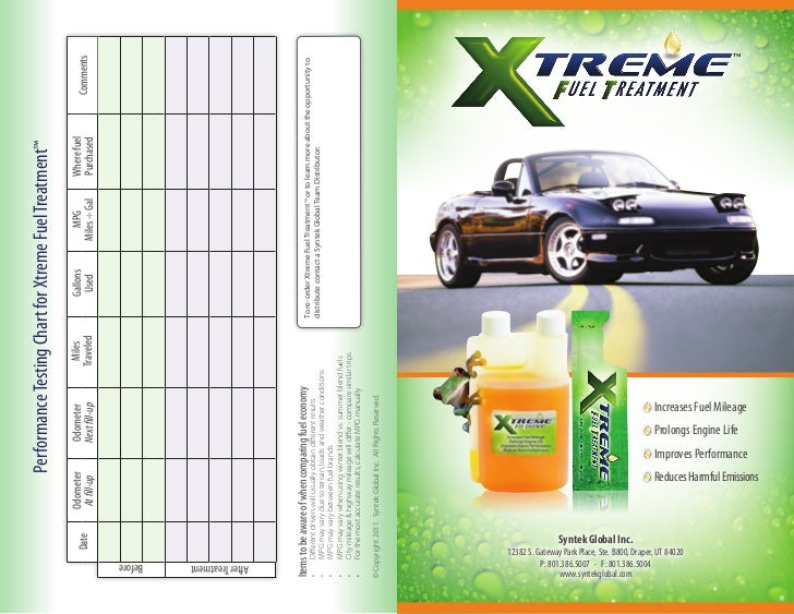 Performance Testing Chart for Xtreme Fuel Treatment™                                                                      ...