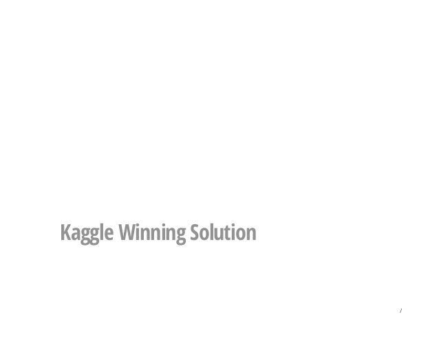 Kaggle Winning Solution /