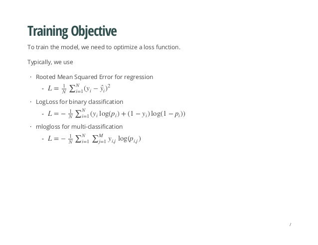 Training Objective To train the model, we need to optimize a loss function. Typically, we use Rooted Mean Squared Error fo...