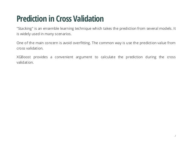 """Prediction in Cross Validation """"Stacking"""" is an ensemble learning technique which takes the prediction from several models..."""