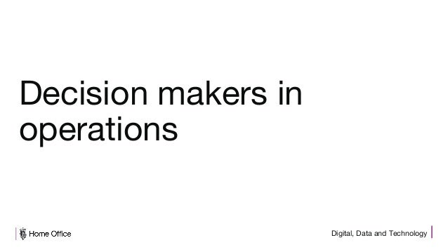 Digital, Data and Technology Decision makers in operations