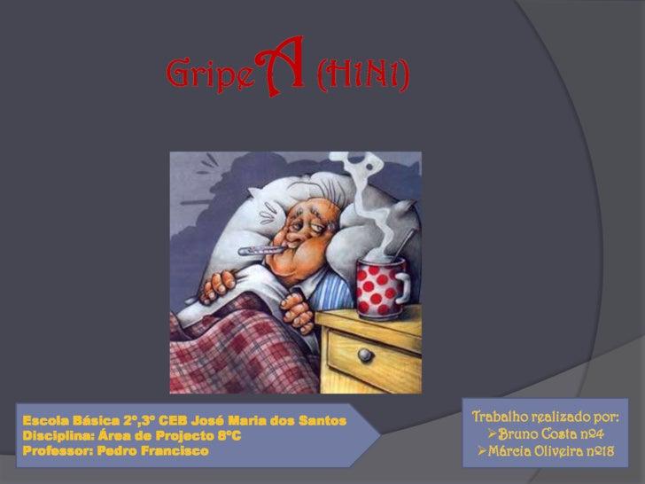 GripeA (H1N1)<br />Trabalho realizado por:<br /><ul><li>Bruno Costa nº4