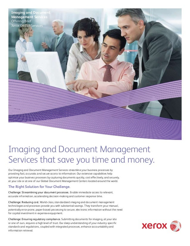 Imaging and Document Management Services Offering Brief Xerox Global Services  Imaging and Document Management Services th...
