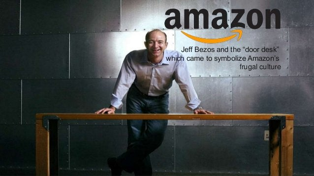 """Proprietary and Confidential Jeff Bezos and the """"door desk"""" which came to symbolize Amazon's frugal culture"""