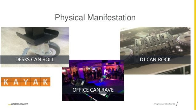 Proprietary and Confidential Physical Manifestation OFFICE CAN RAVE DESKS CAN ROLL DJ CAN ROCK