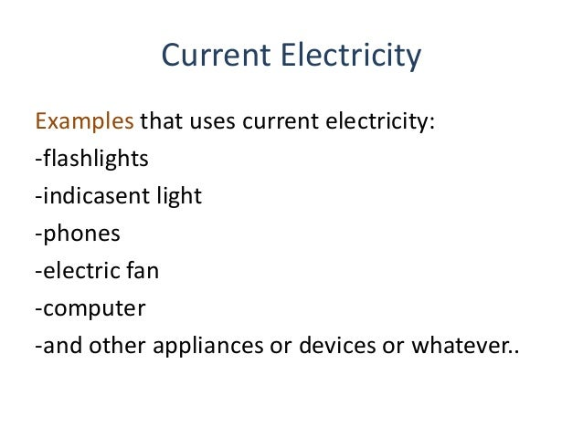 Dc Electricity Uses