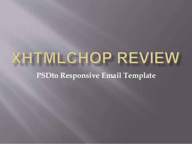 PSDto Responsive Email Template