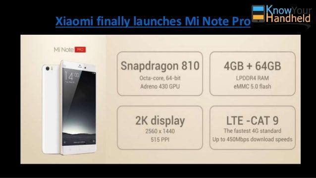 Xiaomi finally launches Mi Note Pro