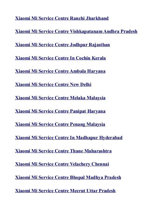 Xiaomi mi service centre in india list