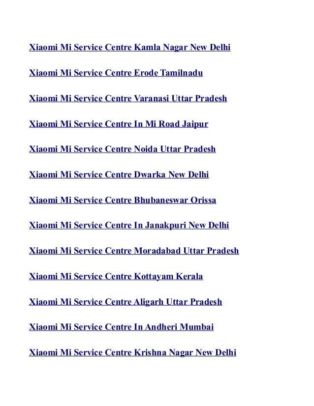 Xiaomi mi service Center in india list