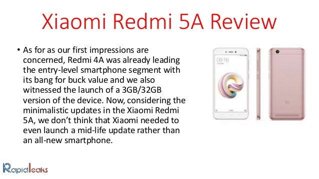 Xiaomi Redmi 5A: Price, Specifications And Review