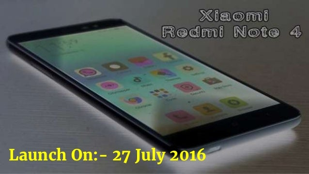 Launch On:- 27 July 2016