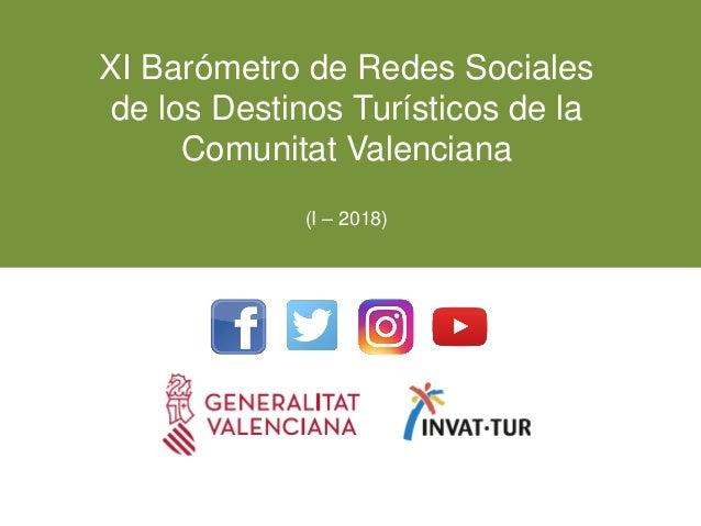 XI Barómetro de Redes Sociales de los Destinos Turísticos de la Comunitat Valenciana (I – 2018)