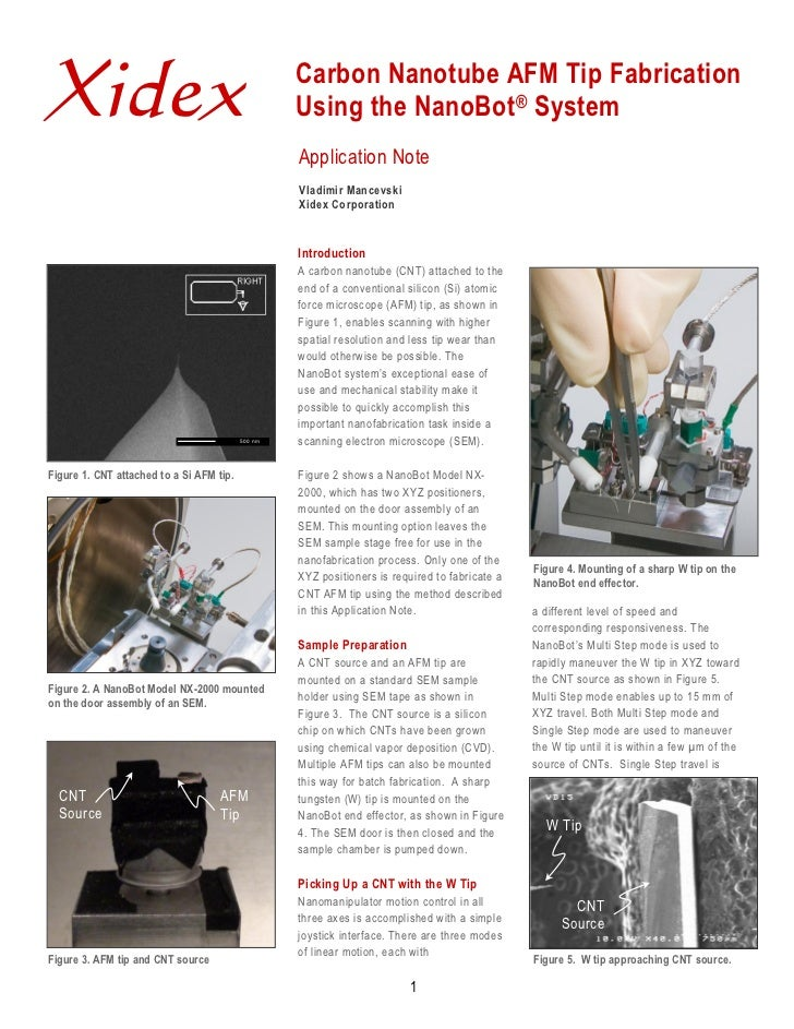 Xidex                                              Carbon Nanotube AFM Tip Fabrication                                    ...