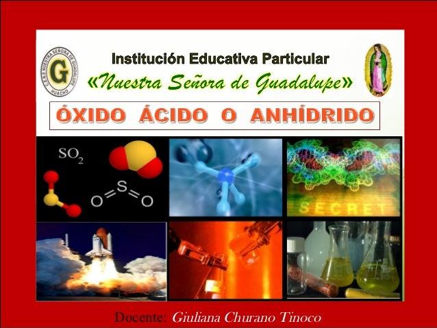 óxido ácido