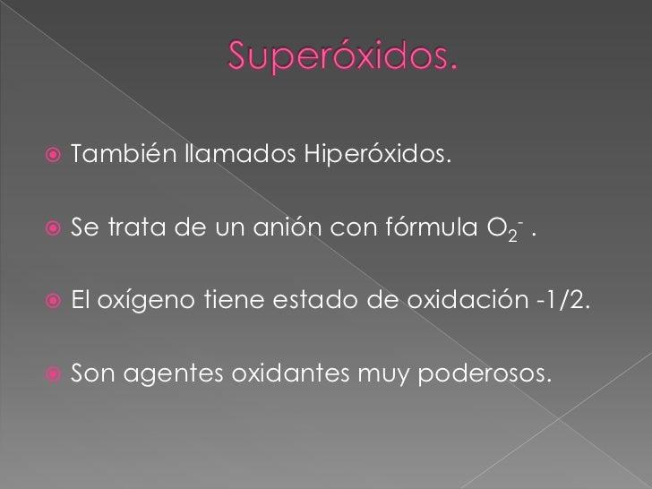 243 Xidos Per 243 Xidos Y Super 243 Xidos