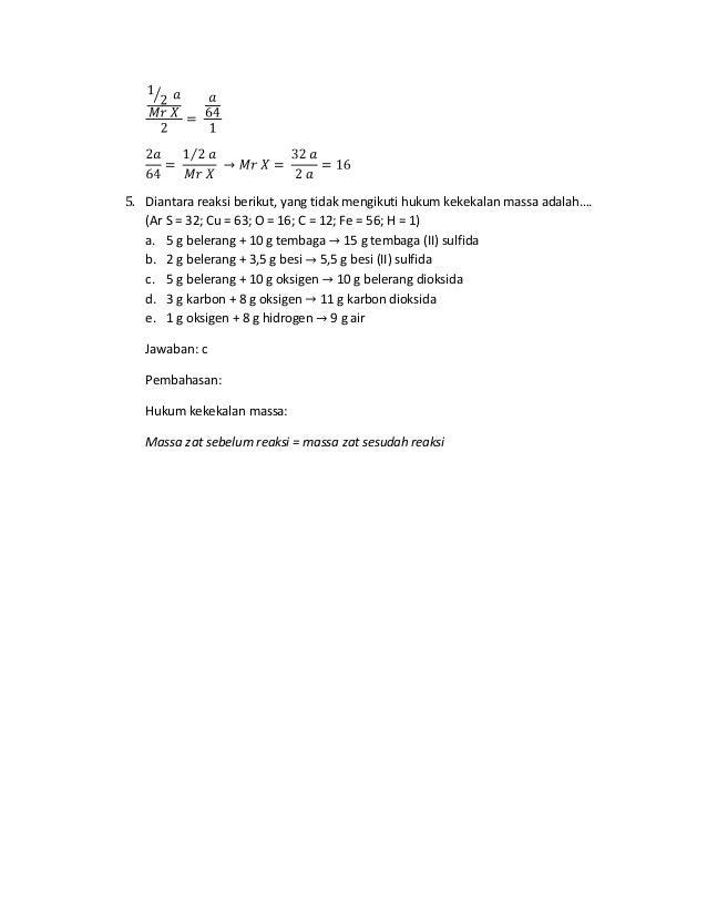Skl Un Kimia 1 6 Soal Dan Pembahasan Xii Ipa Sma