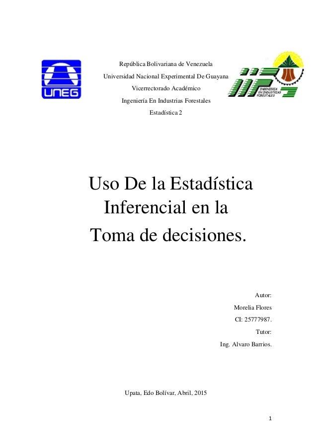1 República Bolivariana de Venezuela Universidad Nacional Experimental De Guayana Vicerrectorado Académico Ingeniería En I...