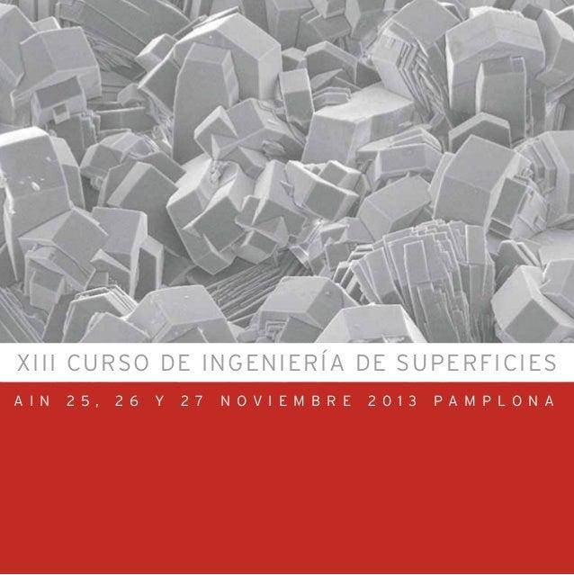 XIII CURSO DE INGENIERÍA DE SUPERFICIES A I N 2 5 , 2 6 Y 2 7 N O V I E M B R E 2 0 1 3 P A M P L O N A