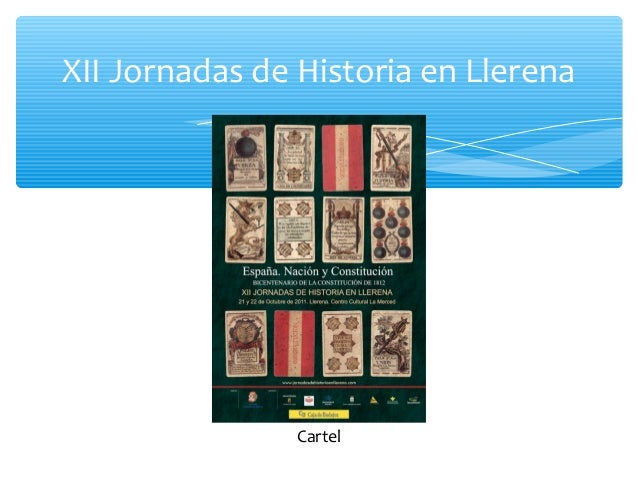 XII Jornadas de Historia en Llerena Cartel