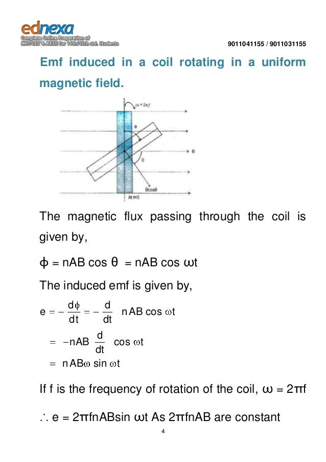 Important notes JEE - Physics -Electromagnetic Induction Part 2