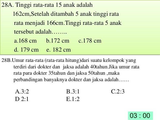 Latihan Soal Unas Matematika Smk