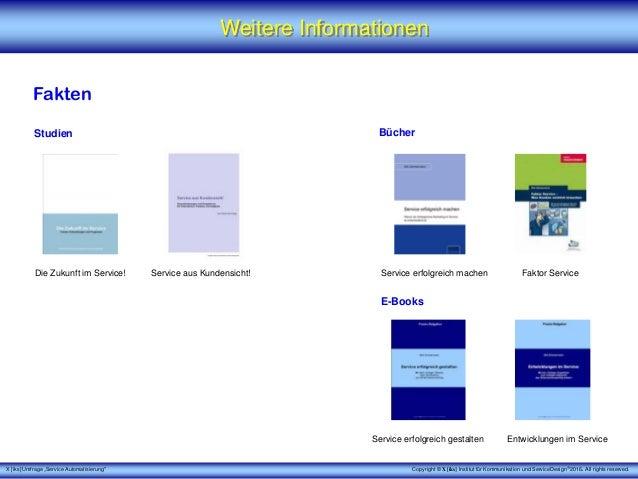 """X [iks] Umfrage """"Service Automatisierung"""" Weitere Informationen Fakten Studien Copyright © X [iks] Institut für Kommunikat..."""