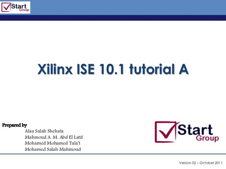 Xilinx ise tutorial-a on