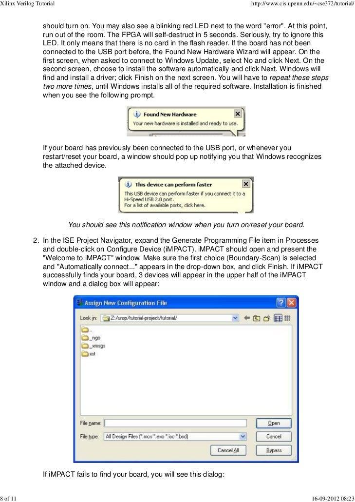 Xilinx verilog tutorial
