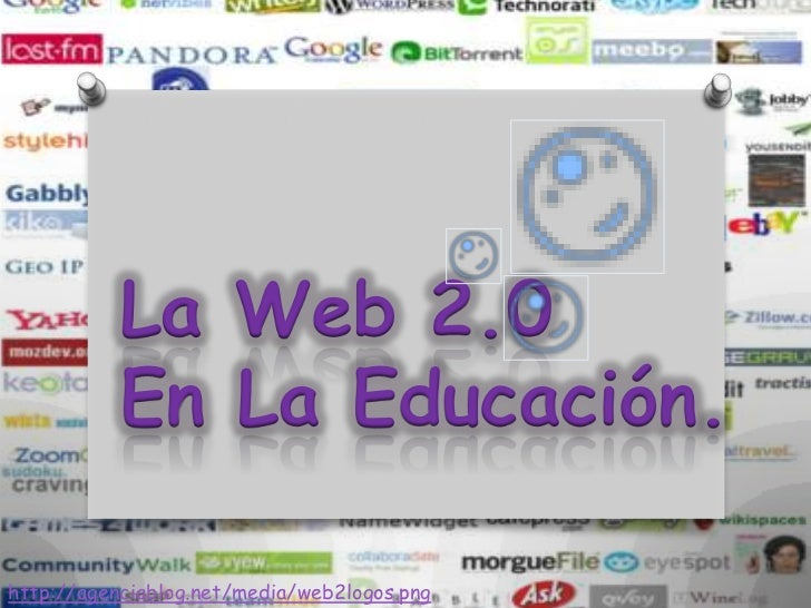 La Web 2.0           En La Educación.http://agenciablog.net/media/web2logos.png