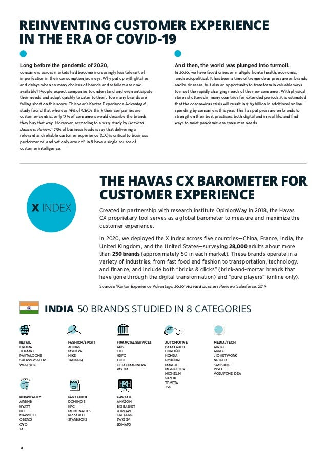 2 REINVENTING CUSTOMER EXPERIENCE IN THE ERA OF COVID-19 Sources: 1 Kantar Experience Advantage, 20202 Harvard Business Re...