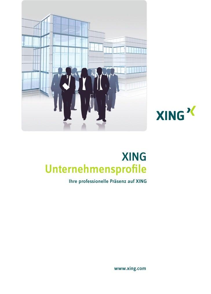 Xing unternehmensprofil
