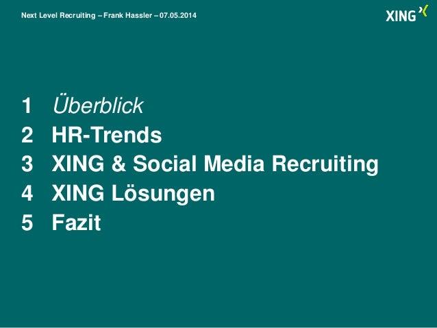 XING Vortrag 2014: Personal Nord und Süd Slide 2