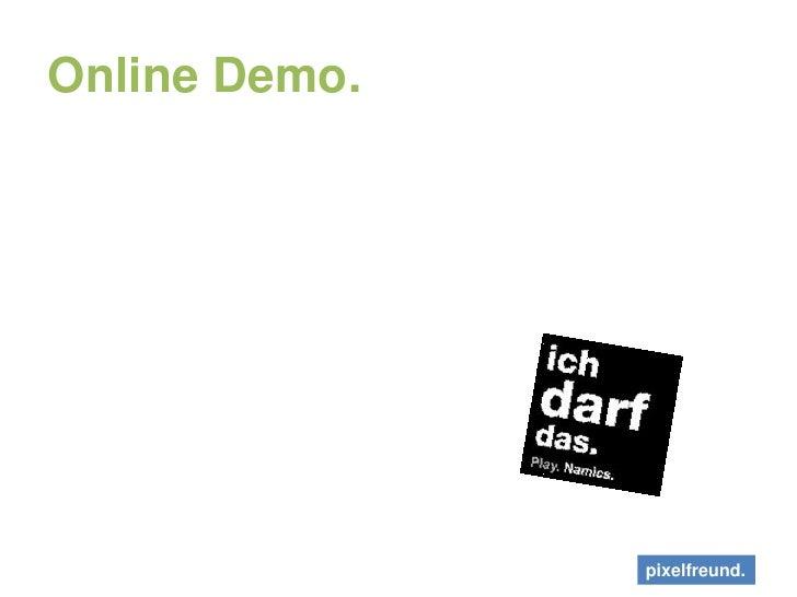 Online Demo.<br />