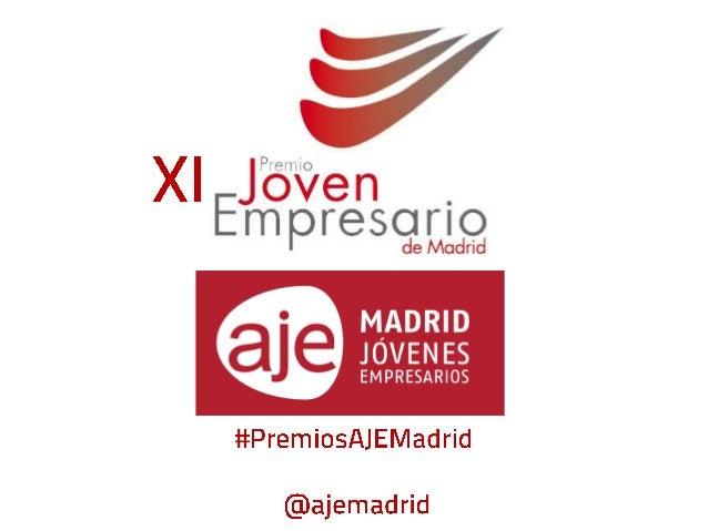 XI Premios joven empresario AJE Madrid