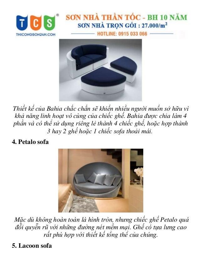 Xiêu lòng với những mẫu ghế sofa tròn vừa đẹp vừa thoải mái Slide 3