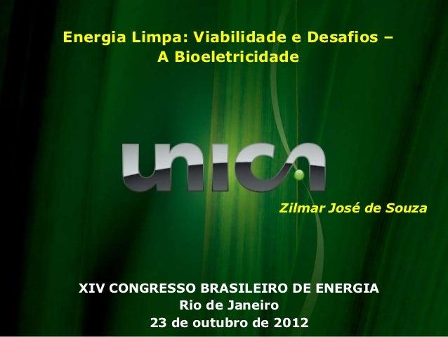 Energia Limpa: Viabilidade e Desafios –           A Bioeletricidade                         Zilmar José de Souza XIV CONGR...