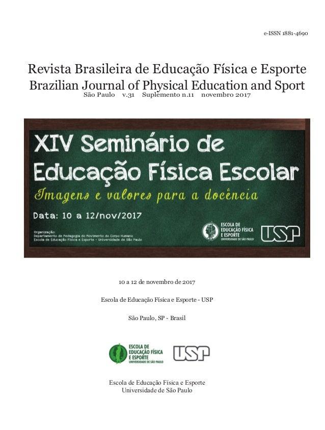 f9d305f8dae Revista Brasileira de Educação Física e Esporte Brazilian Journal of  Physical Education and Sport São Paulo ...