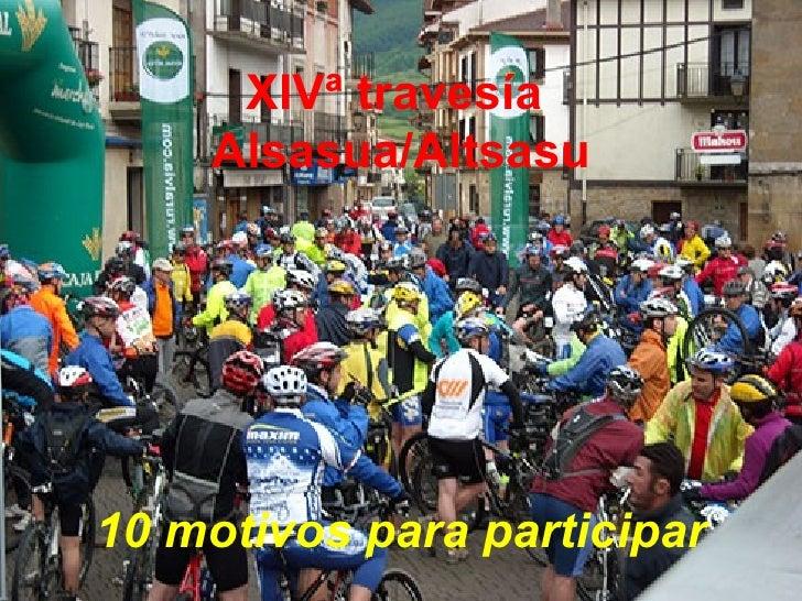 XIVª travesía  Alsasua/Altsasu 10 motivos para participar