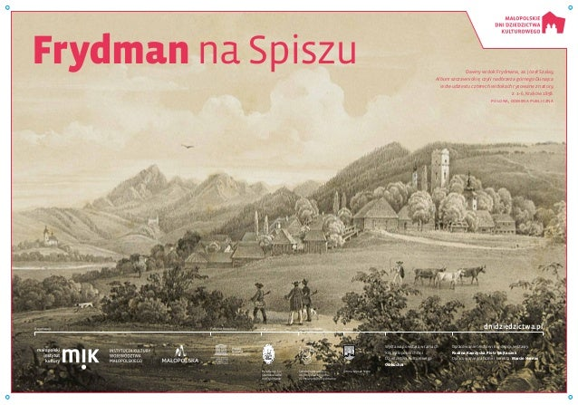 Frydman na Spiszu Dawny widok Frydmana, za: Józef Szalay, Album szczawnickie, czyli nadbrzeża górnego Dunajca w dwudziestu...