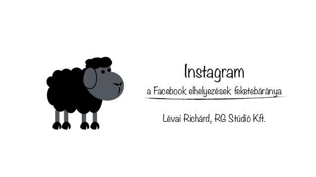 Instagram a Facebook elhelyezések feketebáránya Lévai Richárd, RG Stúdió Kft.