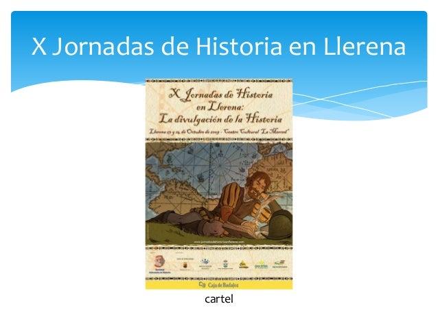 X Jornadas de Historia en Llerena cartel