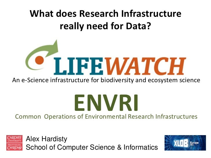 What does Research Infrastructure            really need for Data?An e-Science infrastructure for biodiversity and ecosyst...