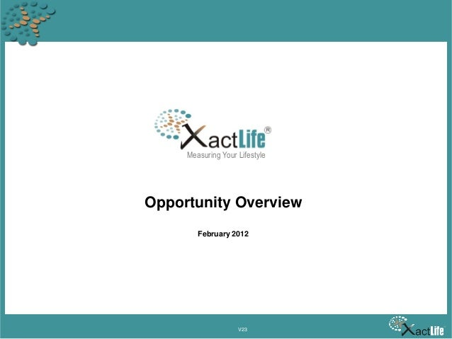 Measuring Your Lifestyle  Opportunity Overview February 2012  V23